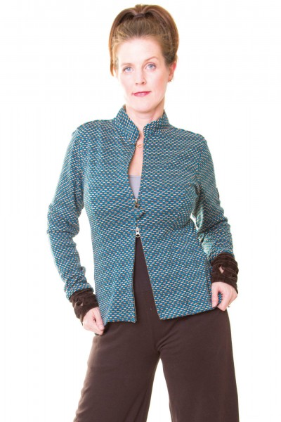 JACKE JUNE AUS ORGANIC INTERLOCK-JACQUARD